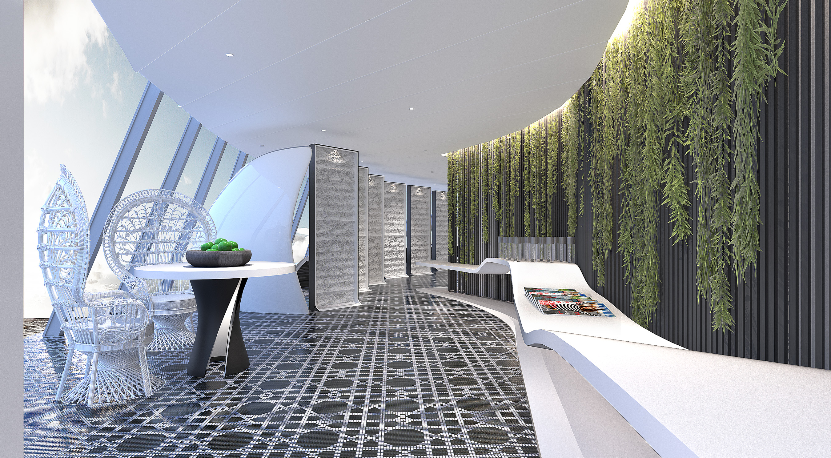 At the heart of The Spa on Celebrity Edge is the SEA Thermal Suite, a playground for the senses where connecting with fellow spa-goers is as central to the experience as time alone to focus on oneself. AquaClass guests will enjoy complimentary access to the SEA Thermal Suite and its eight distinct spaces.