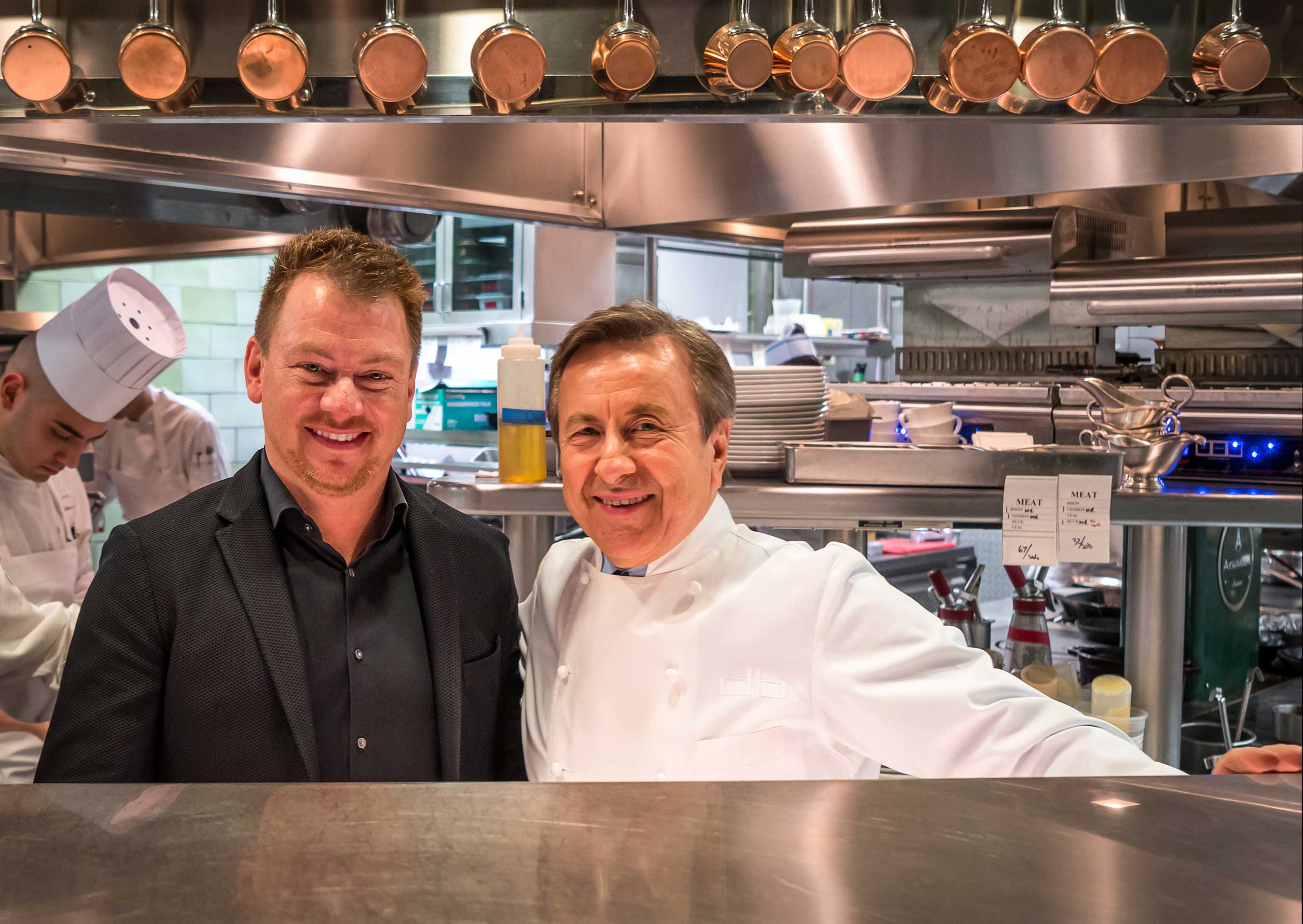 Cornelius Gallagher, Celebrity Cruises, AVP Food and Beverage Operations, with Chef Daniel Boulud at Daniel