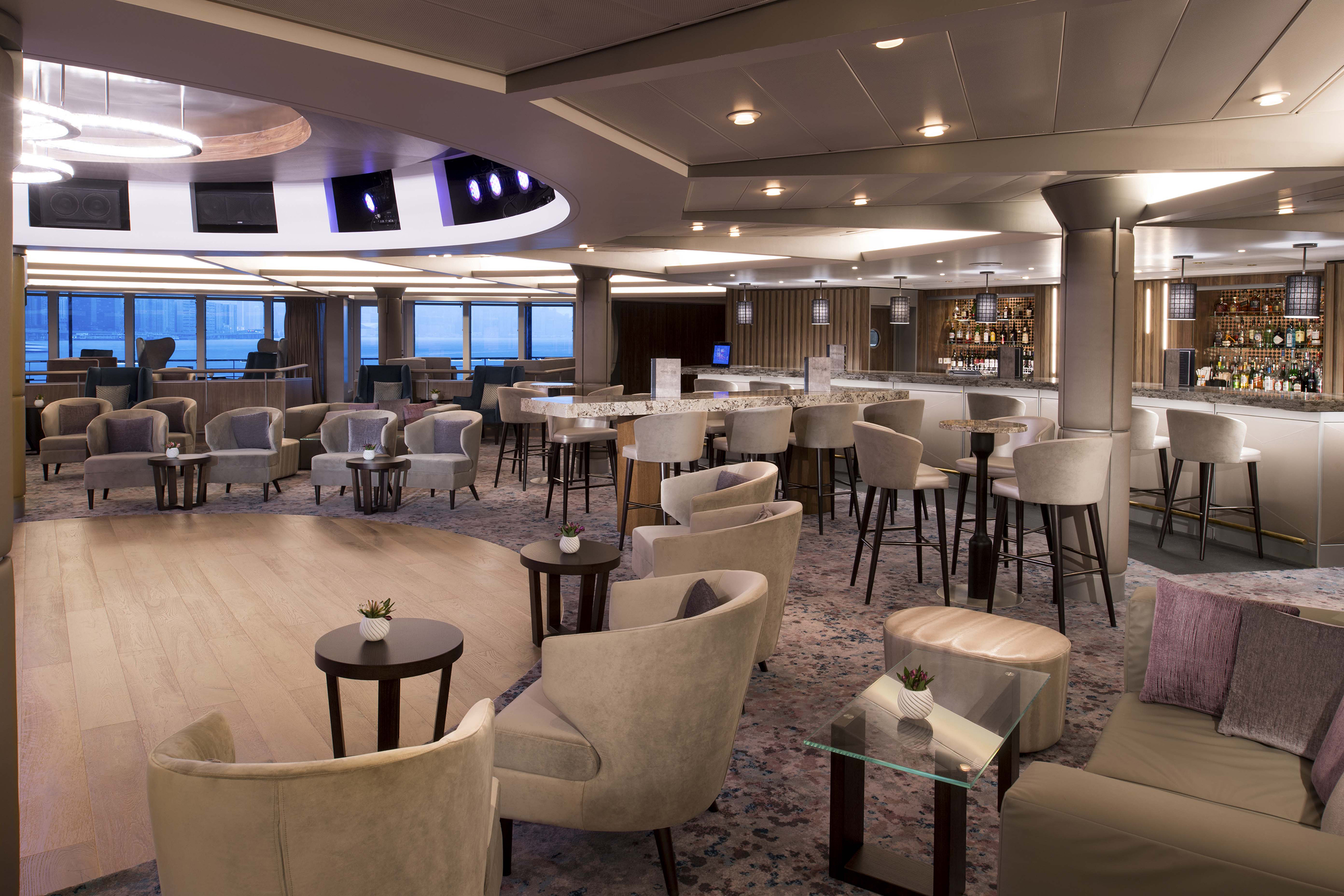 "In collaboration with renowned New York hospitality design firm BG Studio International, a longtime partner of Celebrity Cruises, the brand revealed a ""revolutionized"" Rendezvous Lounge."