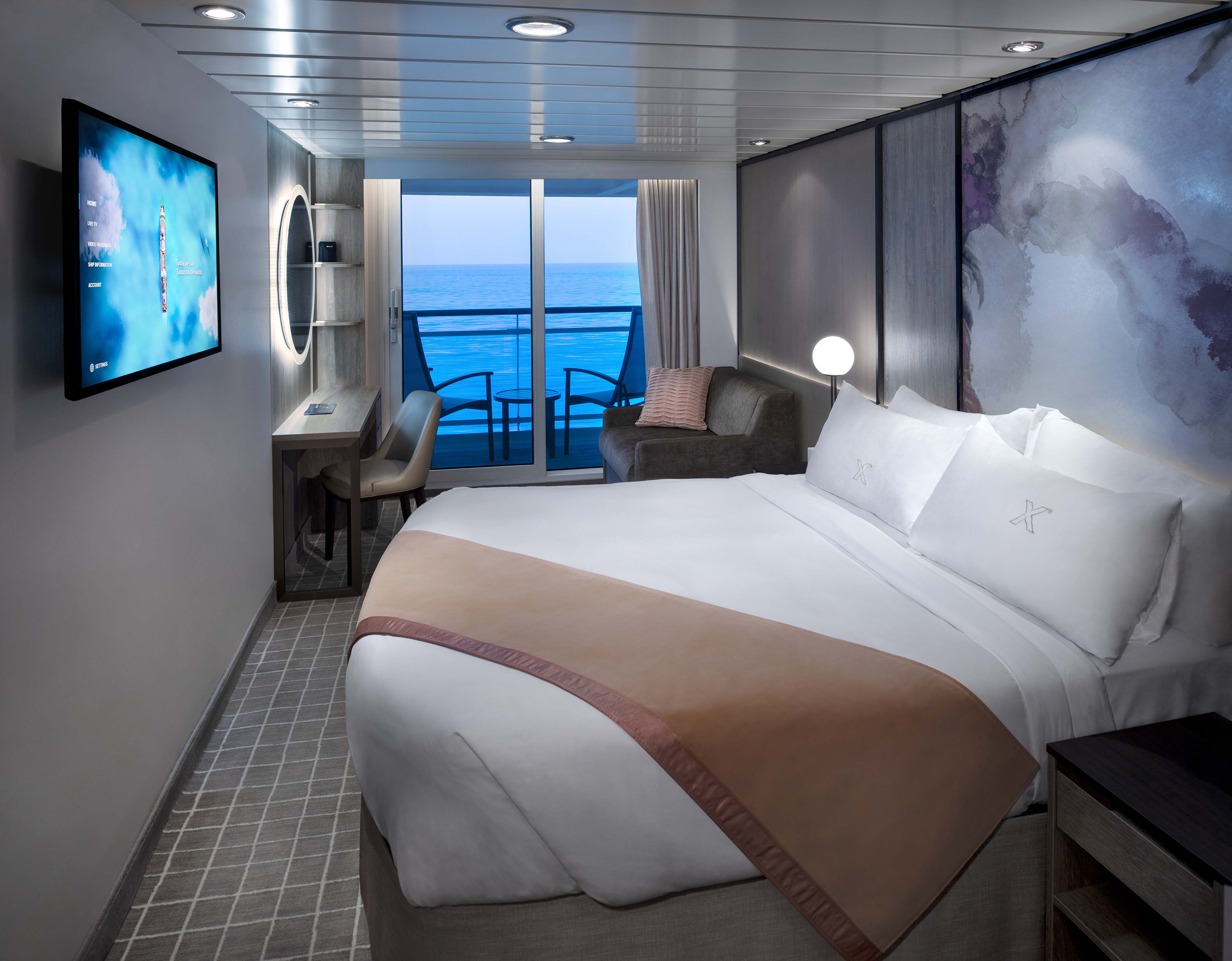 Celebrity Cruises worked hand-in-hand with international hospitality design firm Hirsch Bedner Associates (HBA) to transform the Millennium Series staterooms as part The Celebrity Revolution.