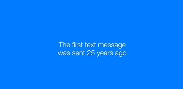 Messenger Celebrates 25 Years of the Text Message: New video and study examines the popularity of messaging & how it's brought us closer together