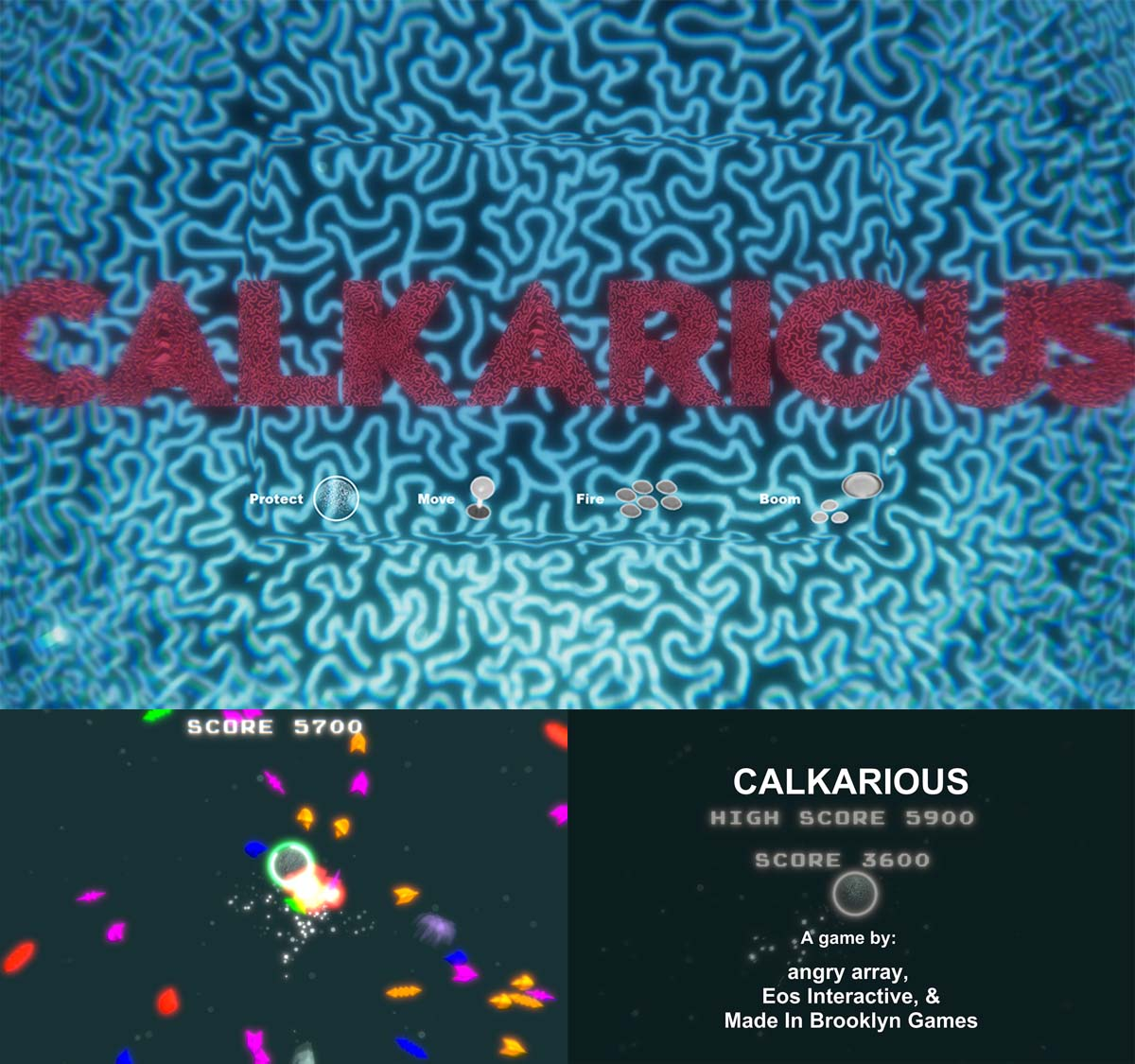 """Come play CALKARIOUS created during """"The Indie Game Jam - Presented by Schick Hydro"""" at The Game Awards' first-ever arcade at the Microsoft Theater in LA on Dec. 7. Download at https://playcrafting.itch.io/ on Dec. 7."""