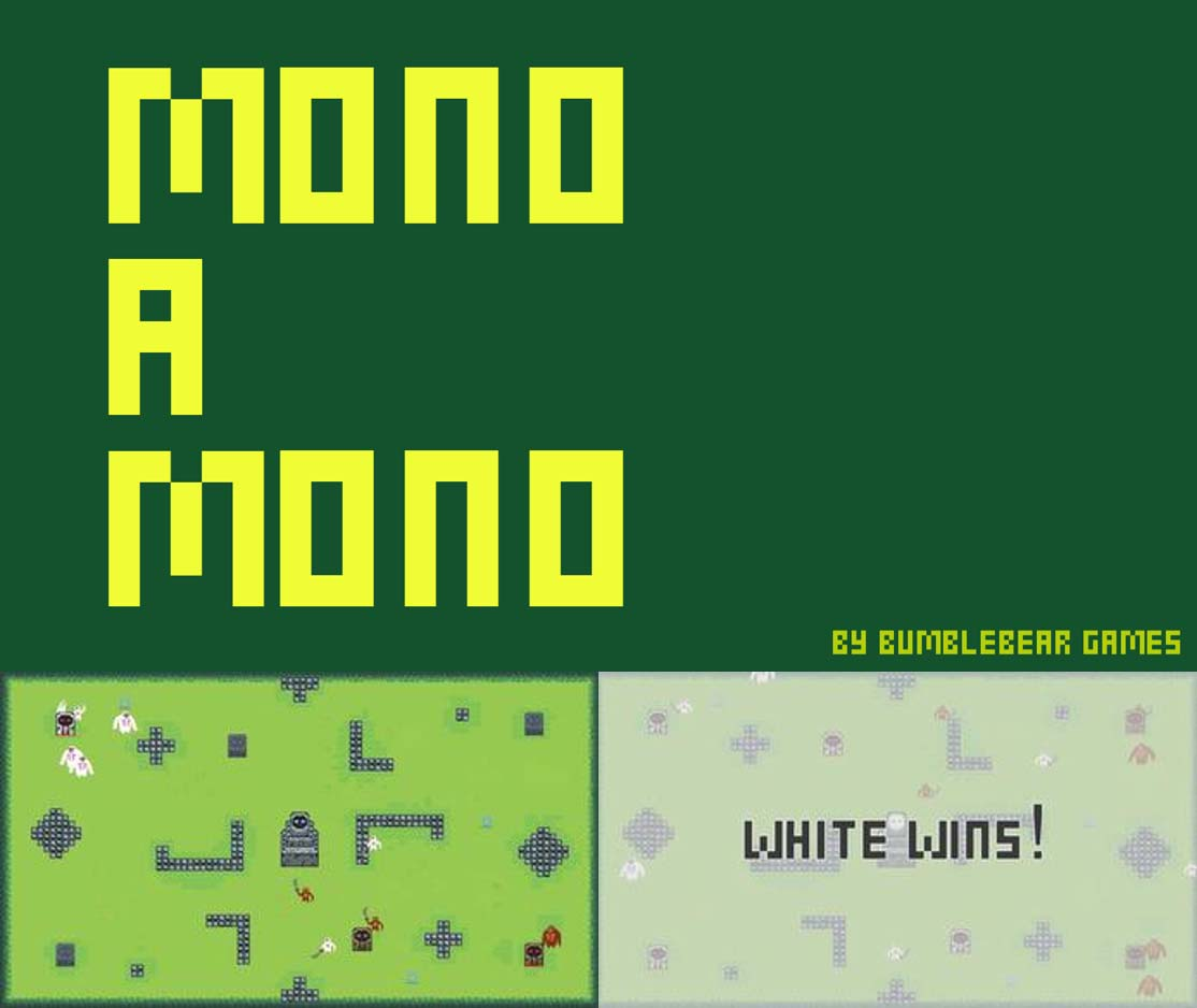 "Come play MONO A MONO created during ""The Indie Game Jam – Presented by Schick Hydro"" at The Game Awards' first-ever ""Indie Game Jam"" arcade at the Microsoft Theater in LA on Dec. 7. Download at https://playcrafting.itch.io/ on Dec. 7."
