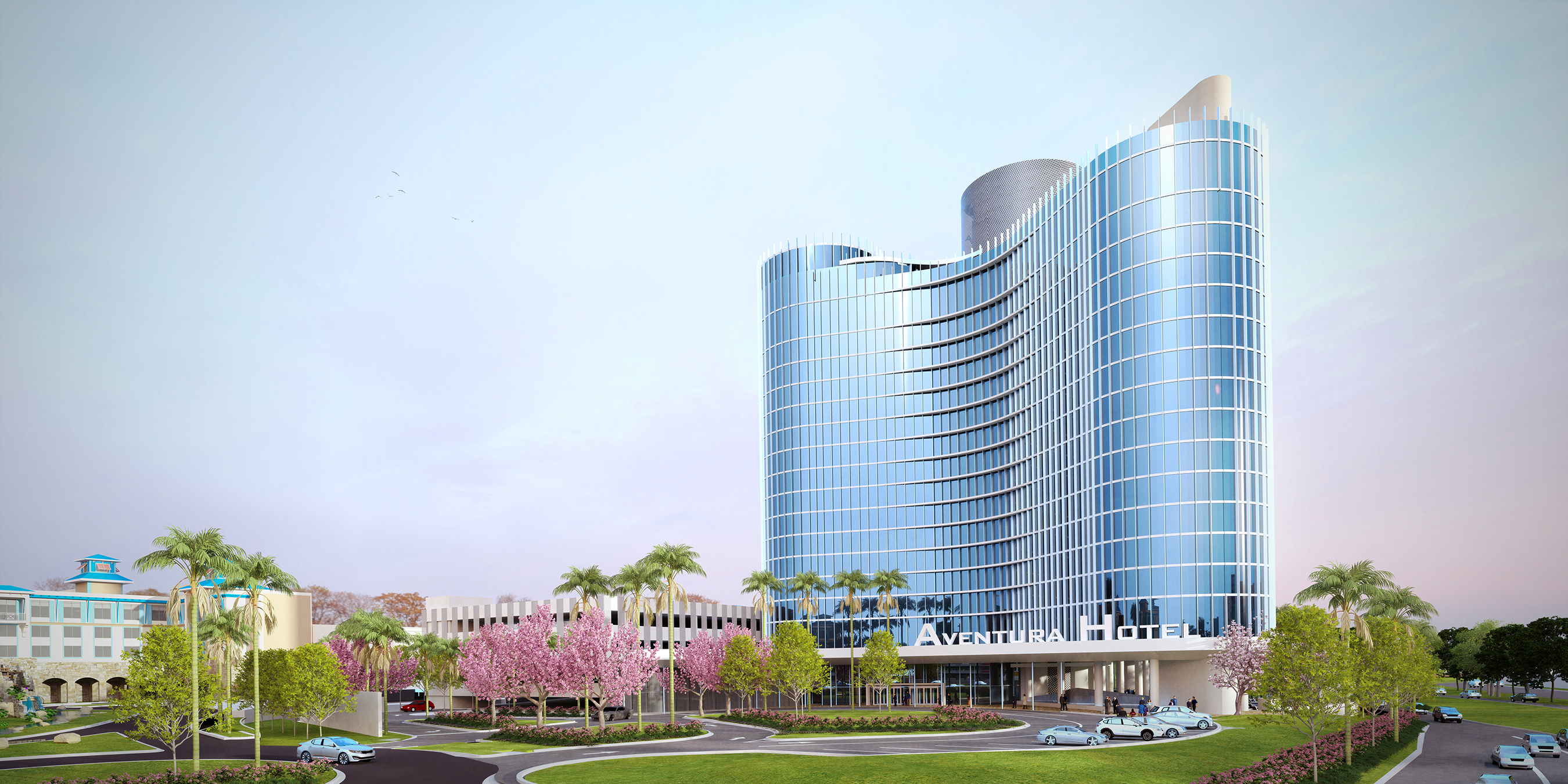 Universal's Aventura Hotel will offer a rooftop bar and grill when it opens in 2018.