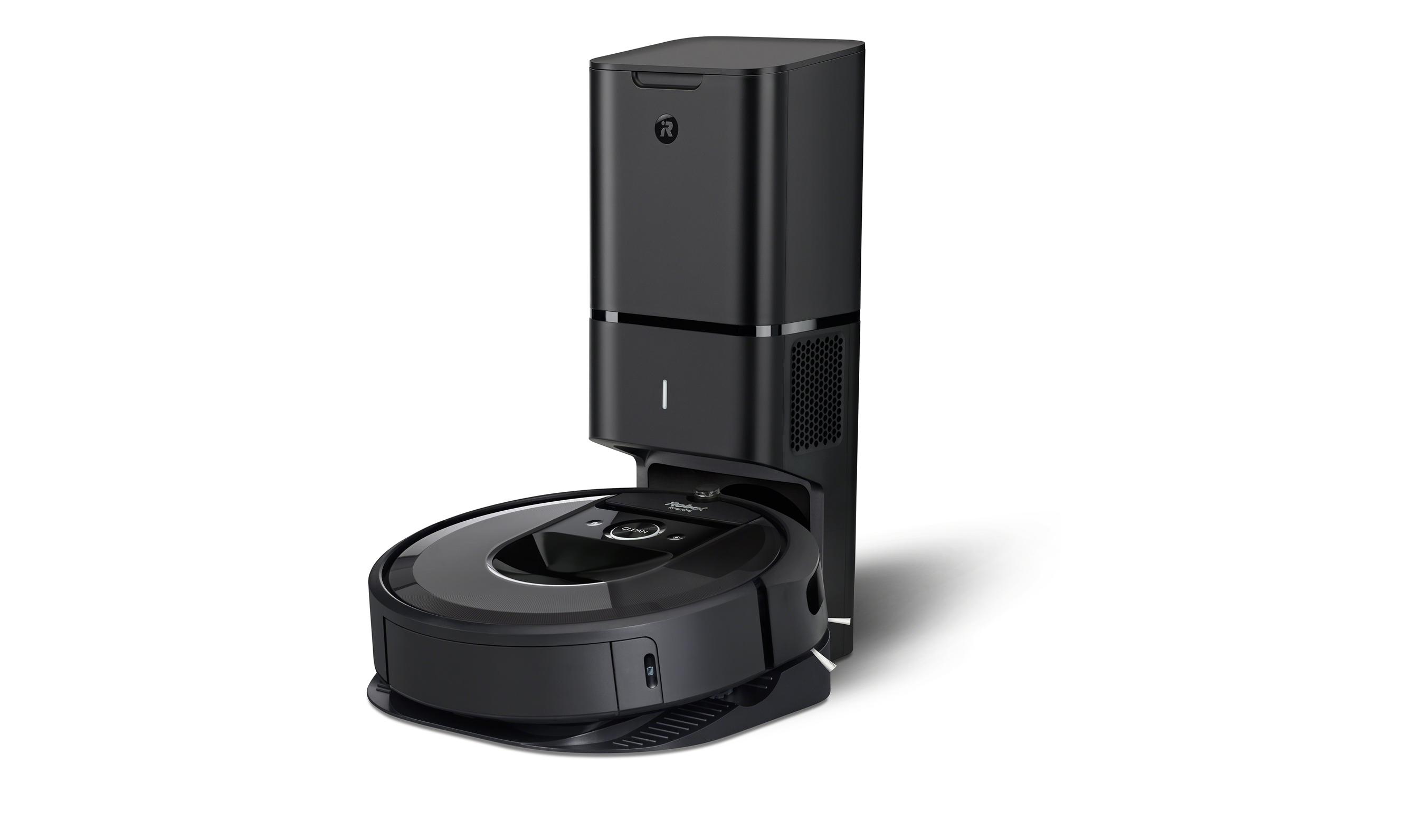 The Roomba® i7+ Robot Vacuum with Clean Base™ Automatic Dirt Disposal takes convenience to a new level - automatically emptying into an enclosed, disposable bag that holds 30 robot bins, so users don't have to think about vacuuming for weeks at a time.