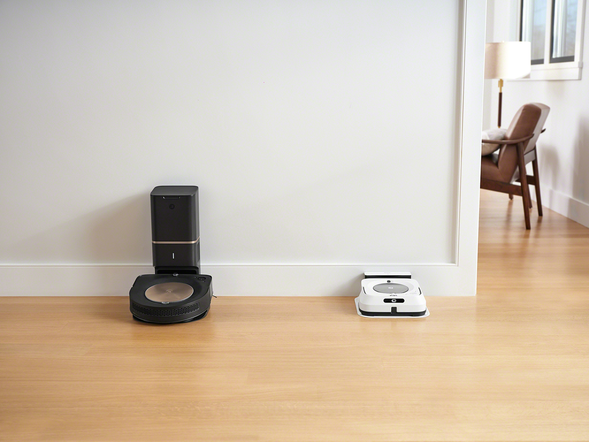 iRobot is launching two new powerful robots that work together to provide the deepest clean possible in the home. The Roomba® s9+ robot vacuum with Clean Base™ Automatic Dirt Disposal sports a sleek Maximized-Edge design and is the most intelligent, powerful, and deepest cleaning Roomba® robot to date. The Braava jet® m6 robot mop tackles multiple rooms and large spaces with advanced navigation and mapping capabilities. Together, the two robots can use Imprint™ Link Technology to talk to each other, automatically vacuuming and then mopping, without any effort from the user.
