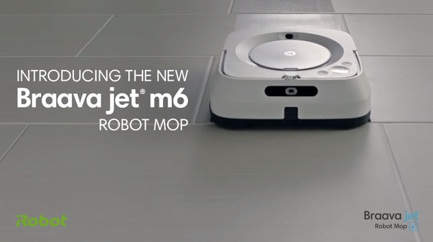 The Wi-Fi® connected Braava jet® m6 robot mop delivers fresh, clean floors throughout the entire home. Ideal for multiple rooms and large spaces, the Braava jet® m6 robot uses advanced navigation to mop or sweep in an efficient pattern, while its Maximized-Edge design enables the robot to get into corners and along edges.