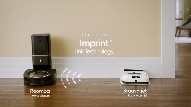 With Imprint™ Link Technology, certain iRobot Roomba® and Braava jet® robots intelligently communicate with each other - working in sequence to vacuum and then mop to deliver an extra level of clean.