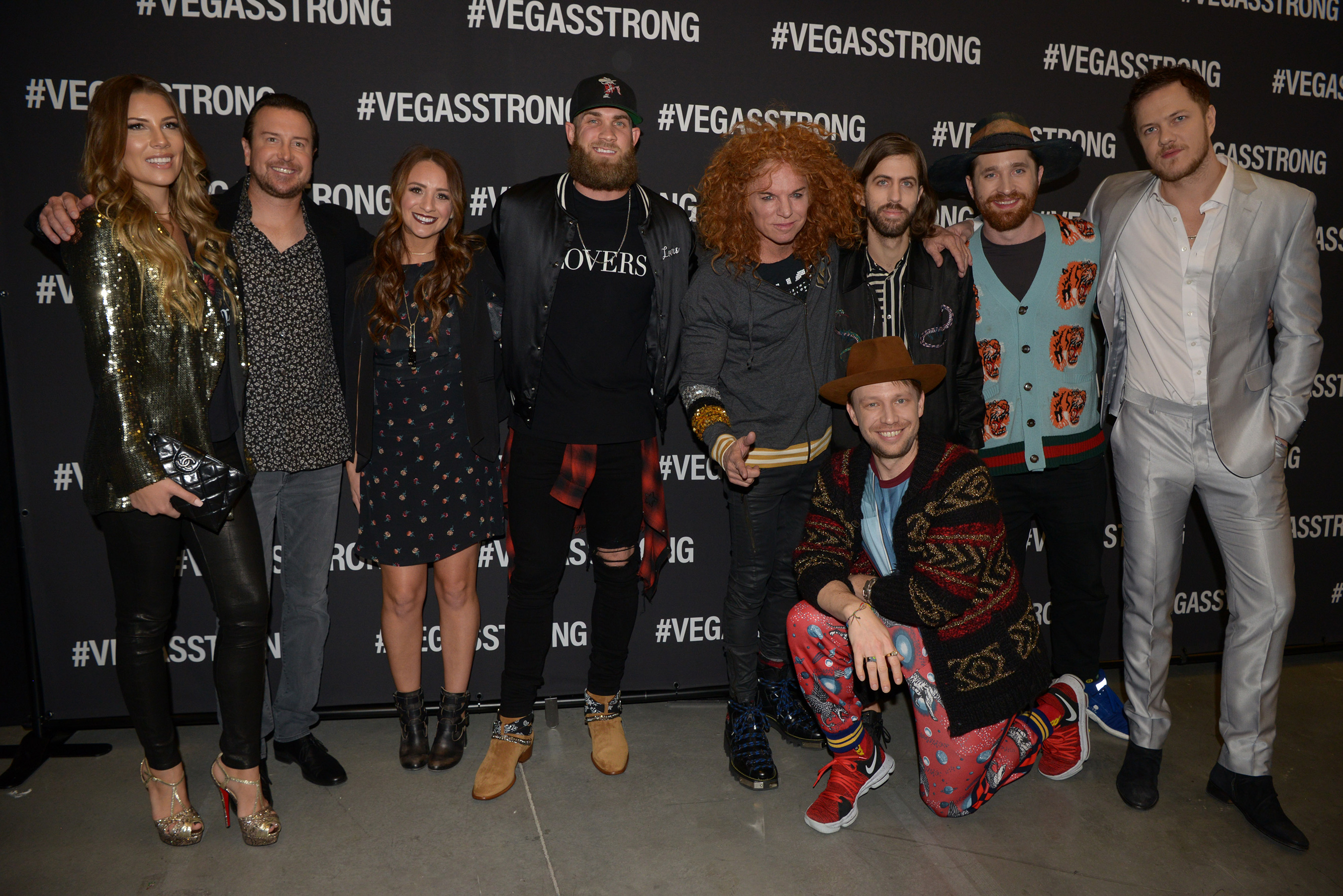Celebrities at Vegas Strong Benefit Concert
