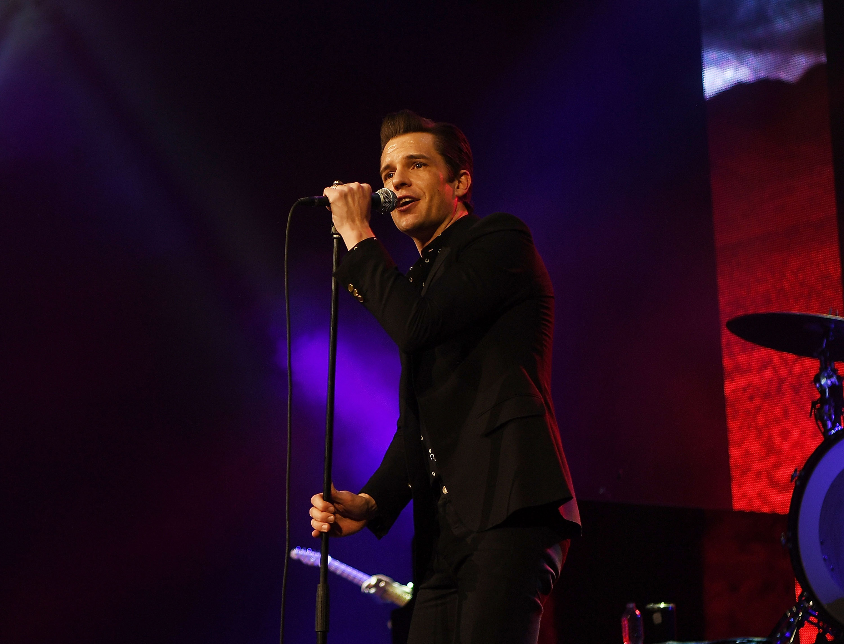 Brandon Flowers of The Killers at Vegas Strong Benefit Concert Credit Denise Truscello Wireimage