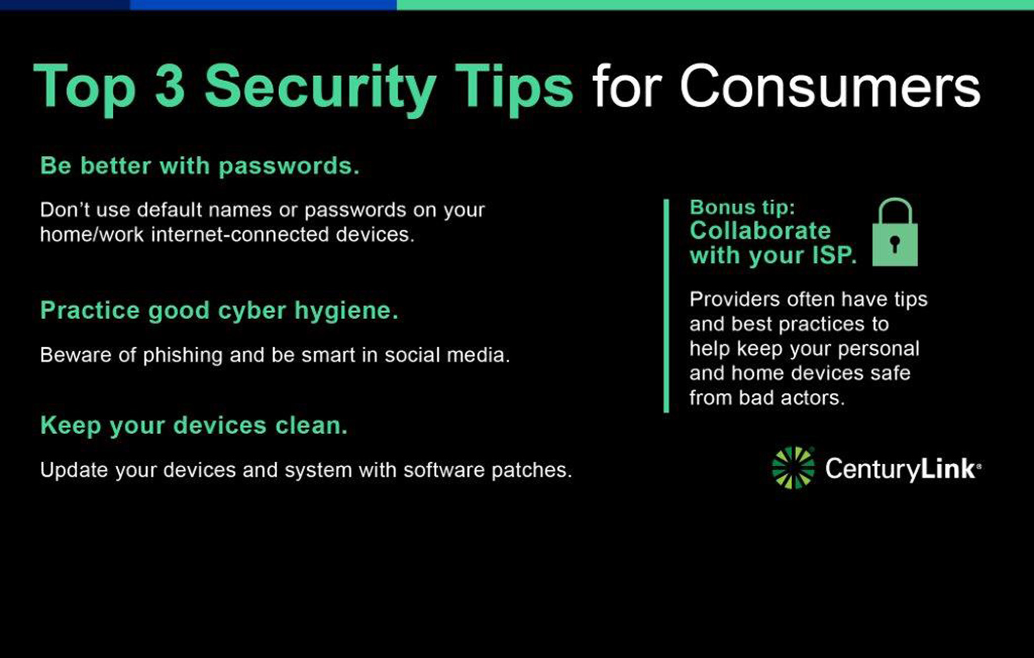 Top 3 Security Tips for Consumers