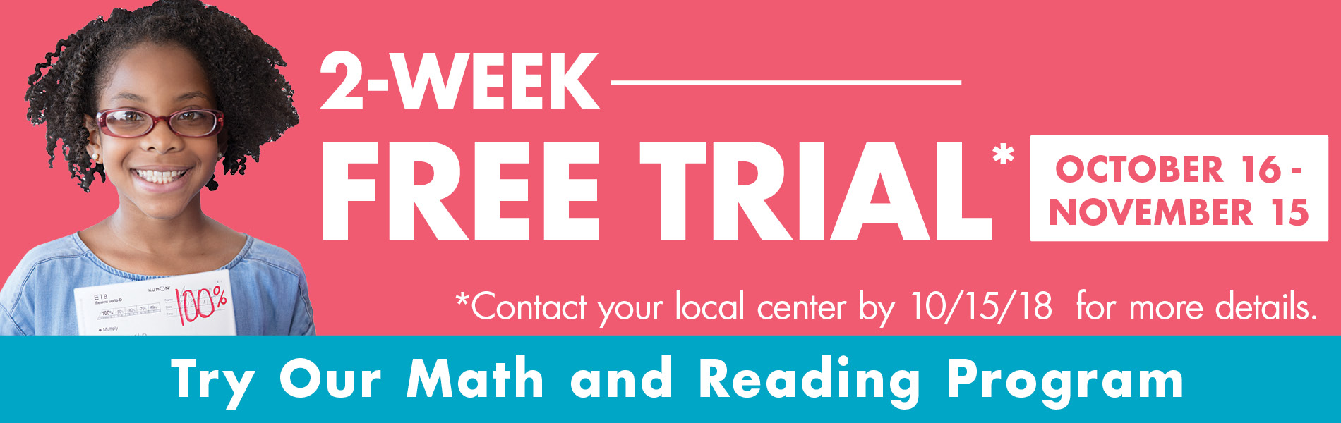 Two week free trial banner image
