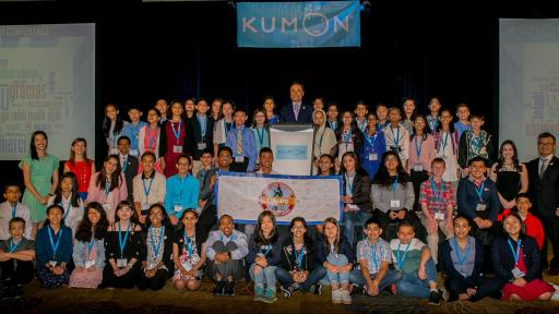 At the conclusion of the conference, all 56 Kumon Students in attendance received a certificate of completion and had the unique opportunity to shake hands with Kumon North America President, Mino Tanabe.