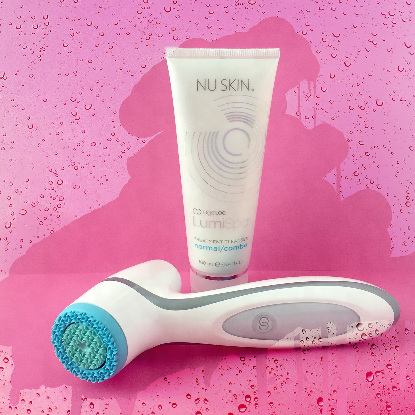 ageLOC LumiSpa from Nu Skin can be used with one of five specially formulated cleansers, designed for your specific skin type