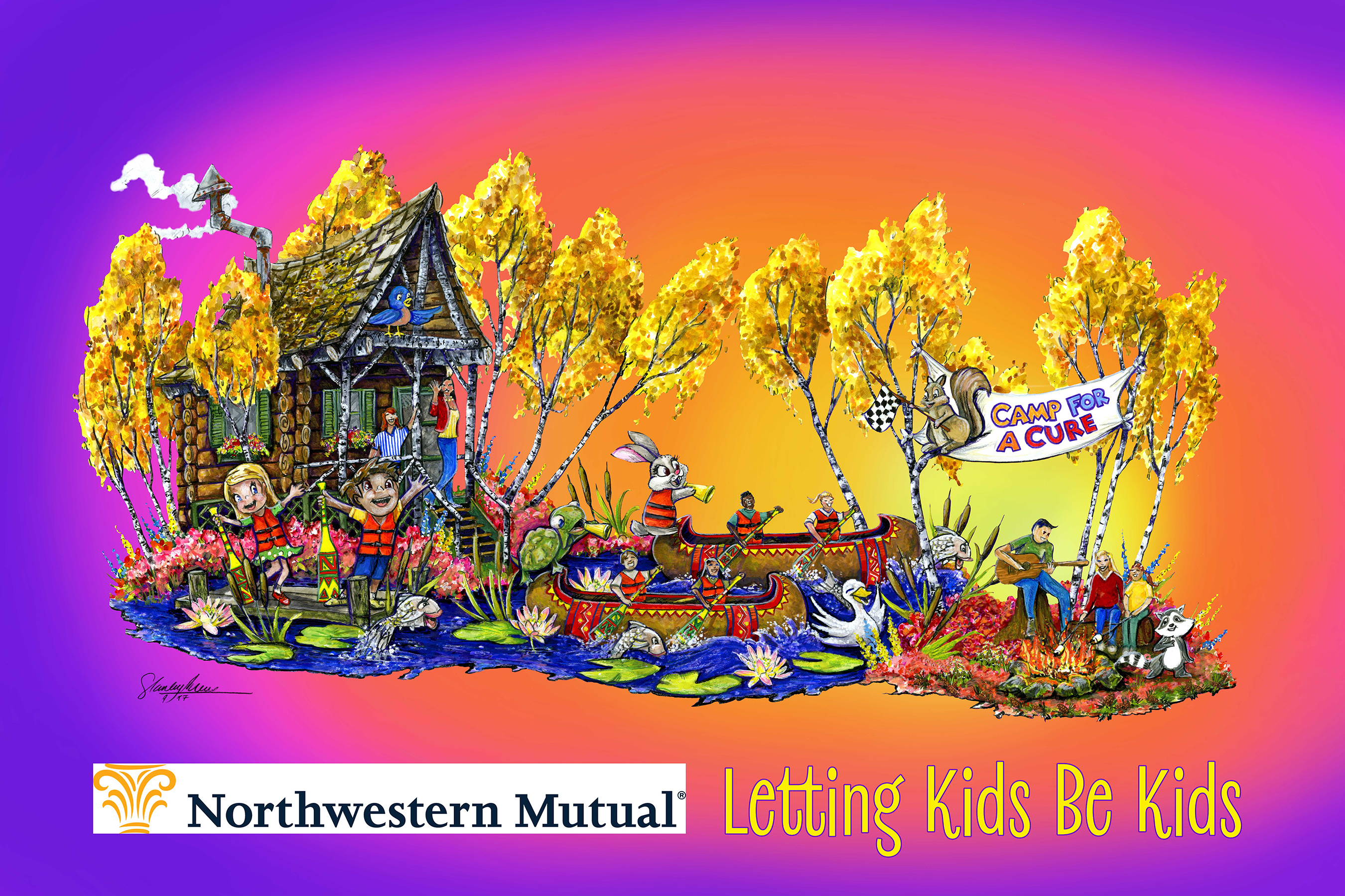 "Northwestern Mutual will have a camp-themed float, titled ""Letting Kids Be Kids,"" in the 129th Rose Parade® that will feature childhood cancer survivors who experience the joy of summer camp throughout their treatment journeys."