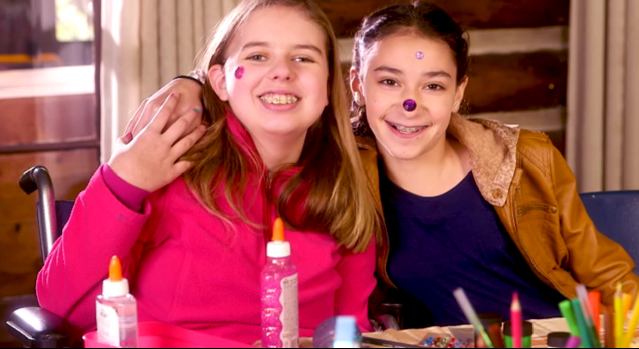 Mary Perkins, 14, is a childhood brain tumor survivor. Mary and Nina Freidline, 12, her cousin and best friend, share why they love camp. Duo will ride Northwestern Mutual's float in the 2018 Rose Parade®.