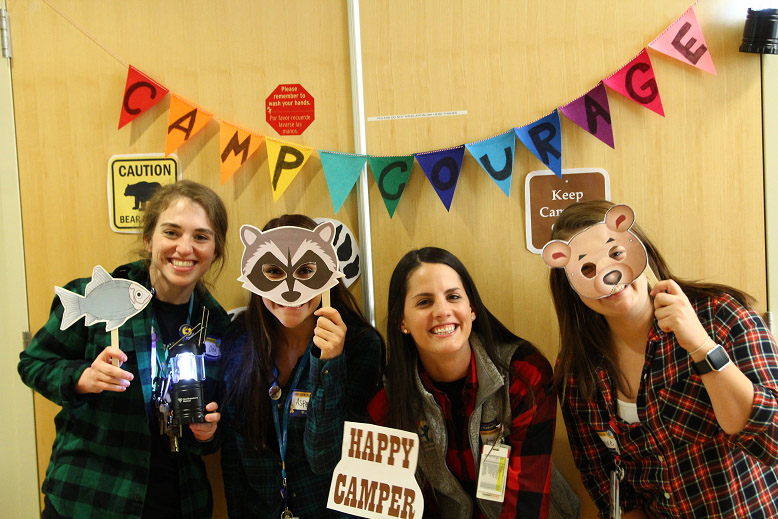 Hospital staff goes wild when camp comes to visit
