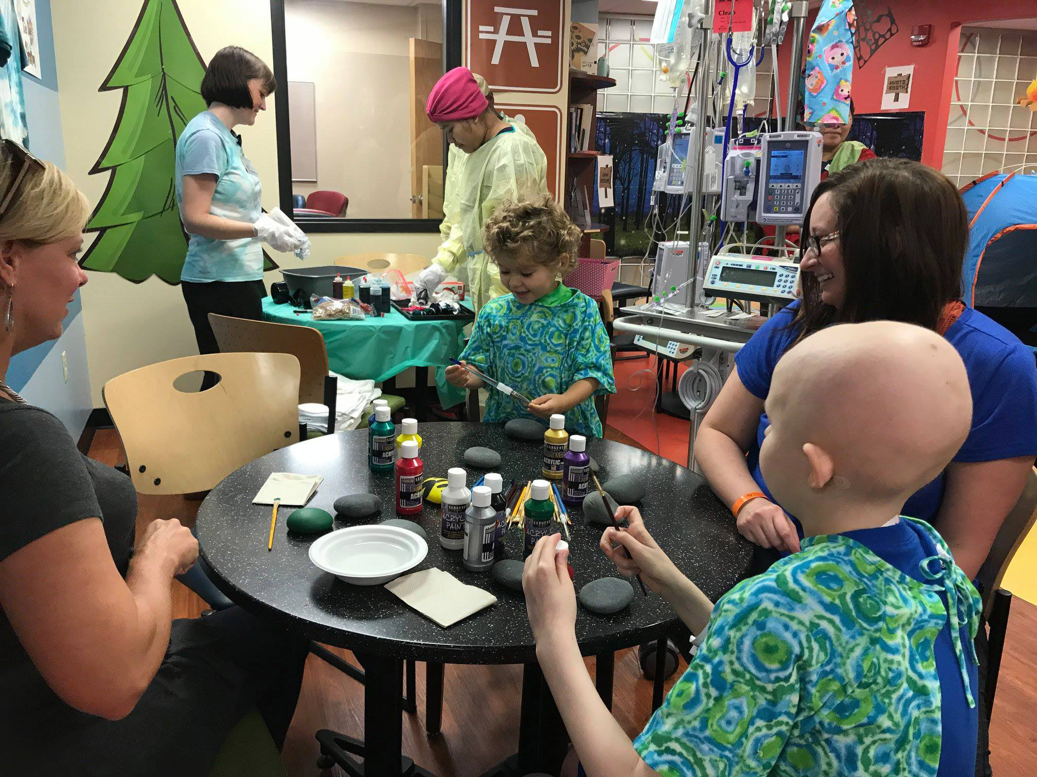 Patients celebrate camp with fun activities