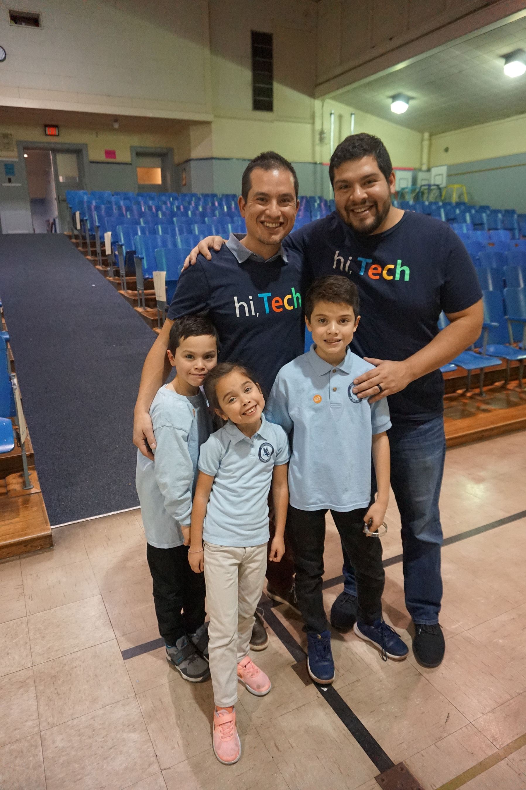 Northwestern Mutual employees and brothers Daniel Andrade and Omar Andrade led an Hour of Code with over 150 K4-5th graders at Forest Home Avenue School, where Daniel's three children (pictured) attend school.