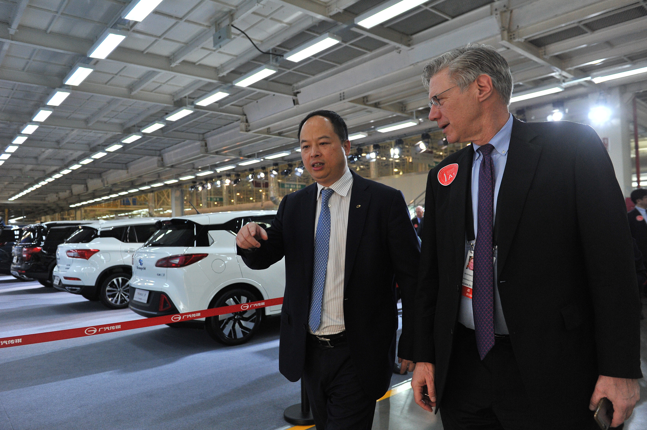 Yu Jun, president of GAC Motor with the Forum's guests