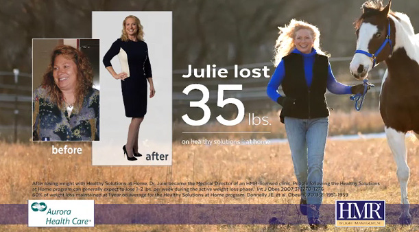 Dr. Julie Lost 35 lbs. with Healthy Solutions® at Home