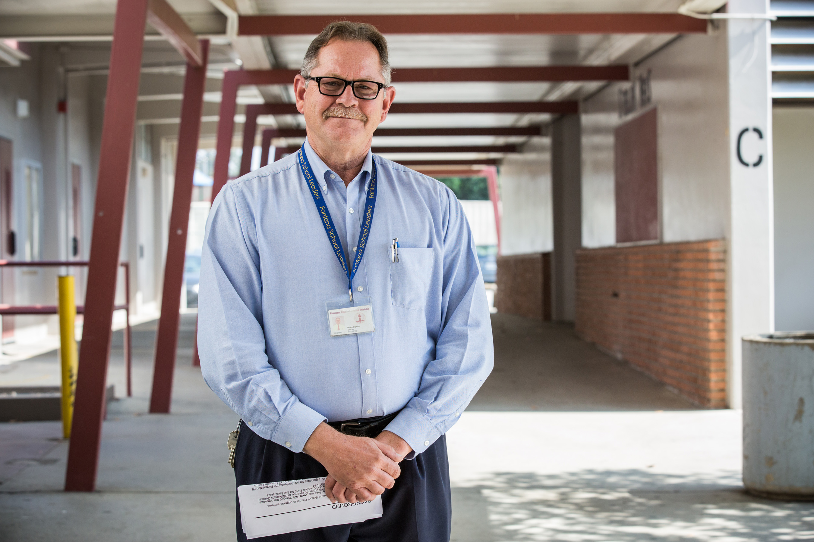 Robert Copeland, Fontana School District's director of maintenance and operations, led the project to replace aging rooftop units with more than 200 new Carrier RTUs to increase comfort and efficiency.