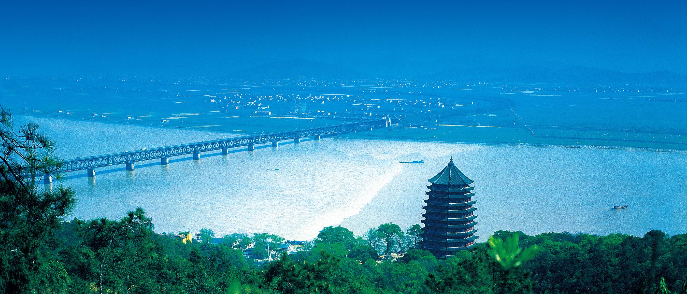 Qiantang River and Six Harmonies Pagoda