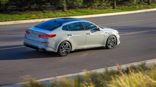 Side view Gray 2019 Kia Optima