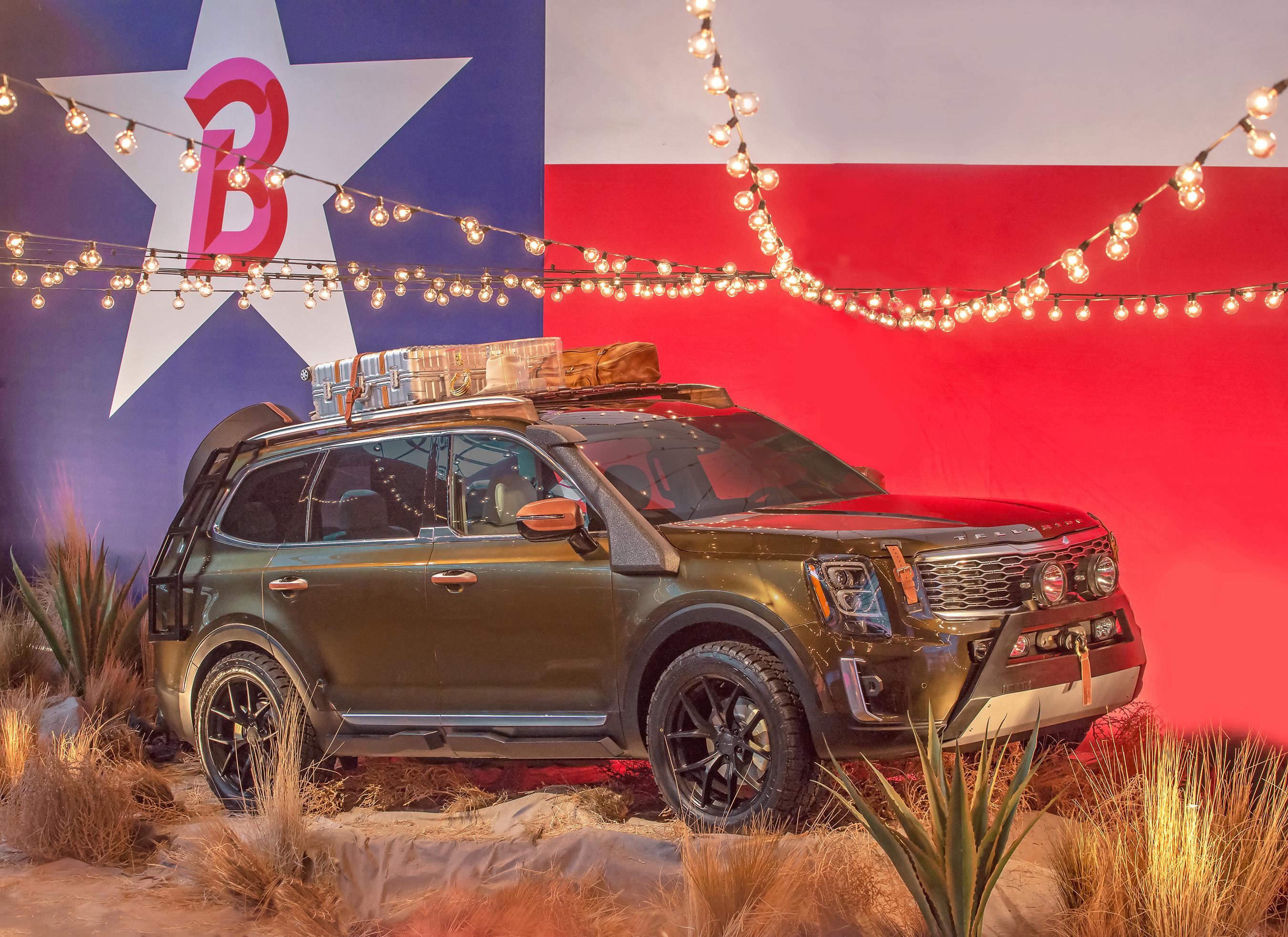 Kia previews all-new Telluride SUV on Brandon Maxwell's runway at New York Fashion Week.