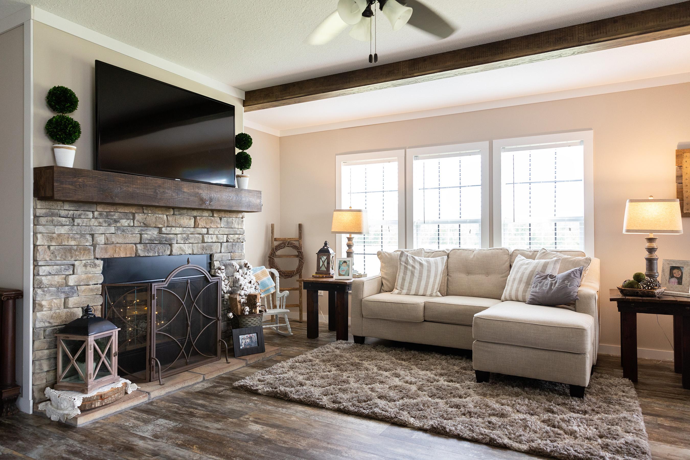 Open floor plans allow an abundance of natural light.