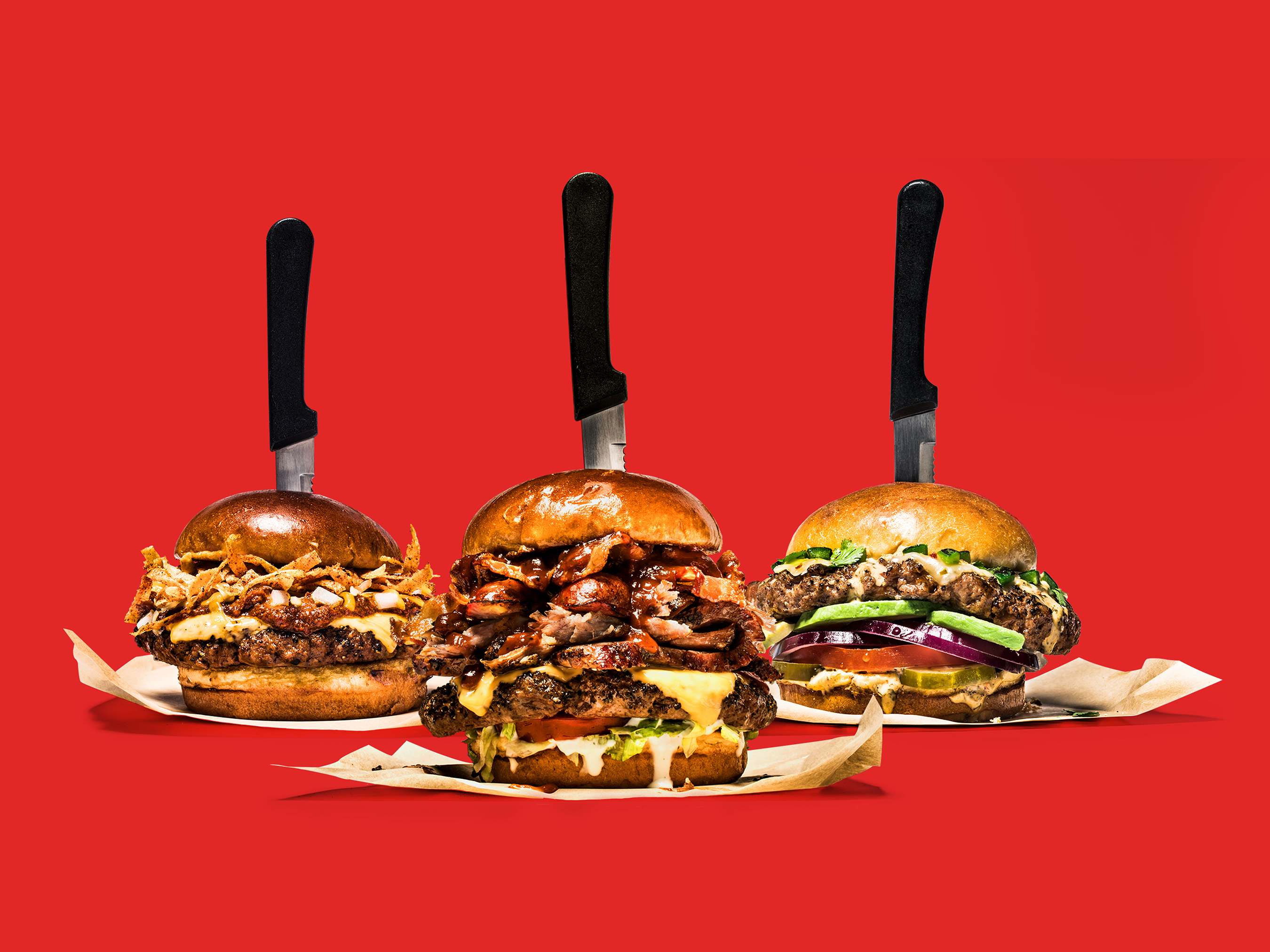 Our innovation game is strong with burgers. In addition to The Boss, we're introducing Chili's Chilis (left) and Alex's Santa Fe (right).