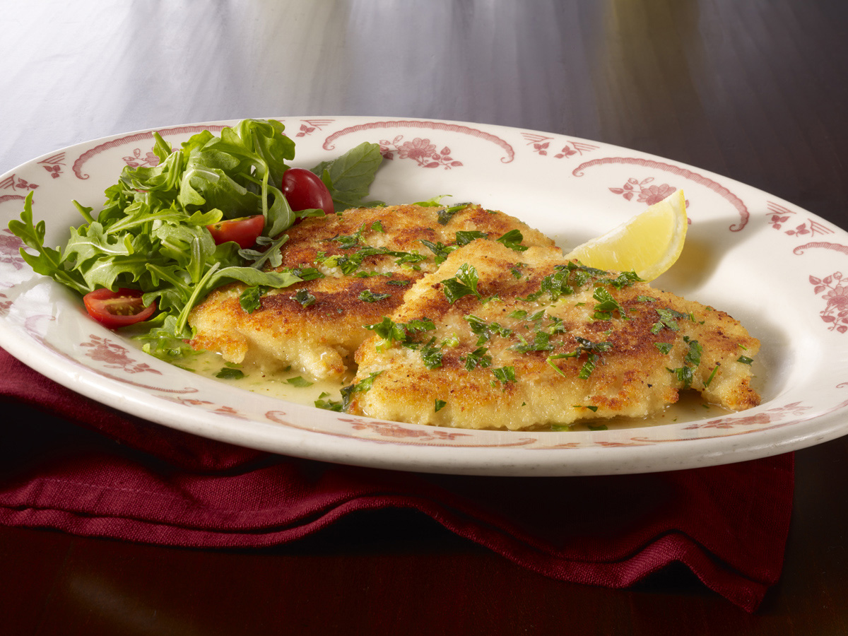 Chicken Francese. Double the portion on any carryout order for appetizers without doubling the price!