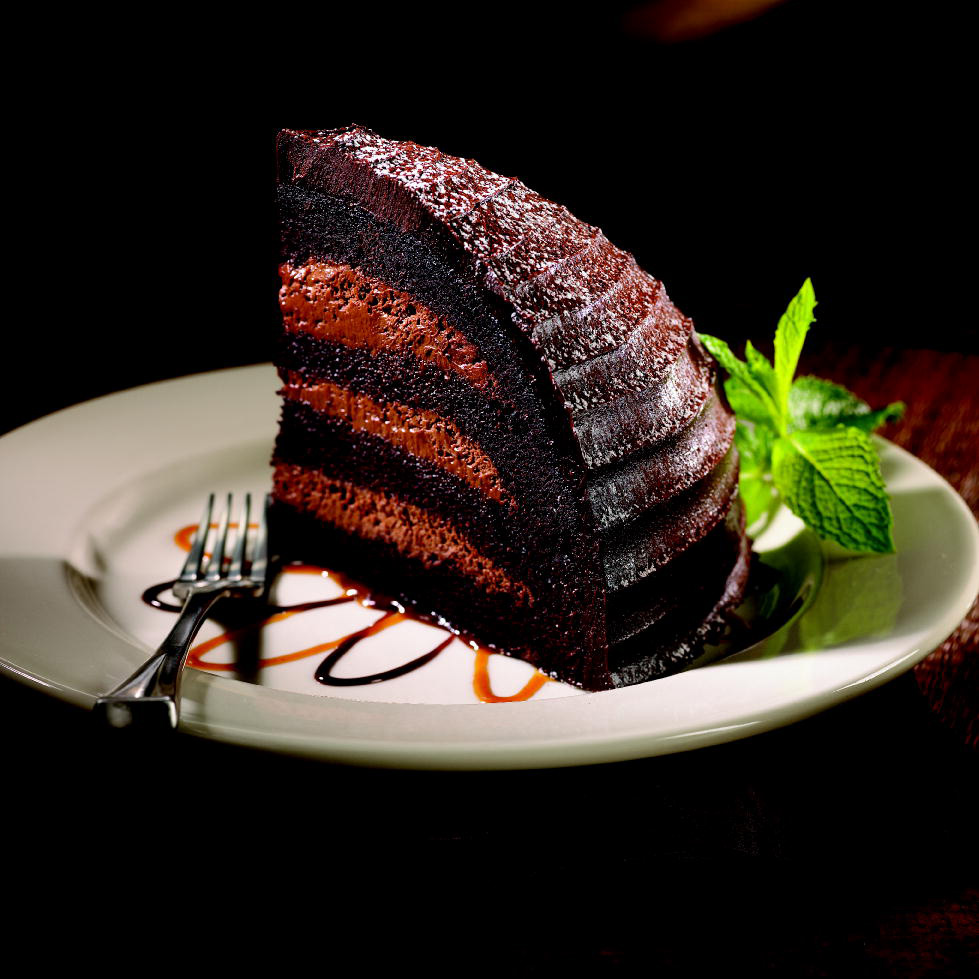 Chocolate Zuccotto Cake. Double the portion on any order for chicken entrees without doubling the price!