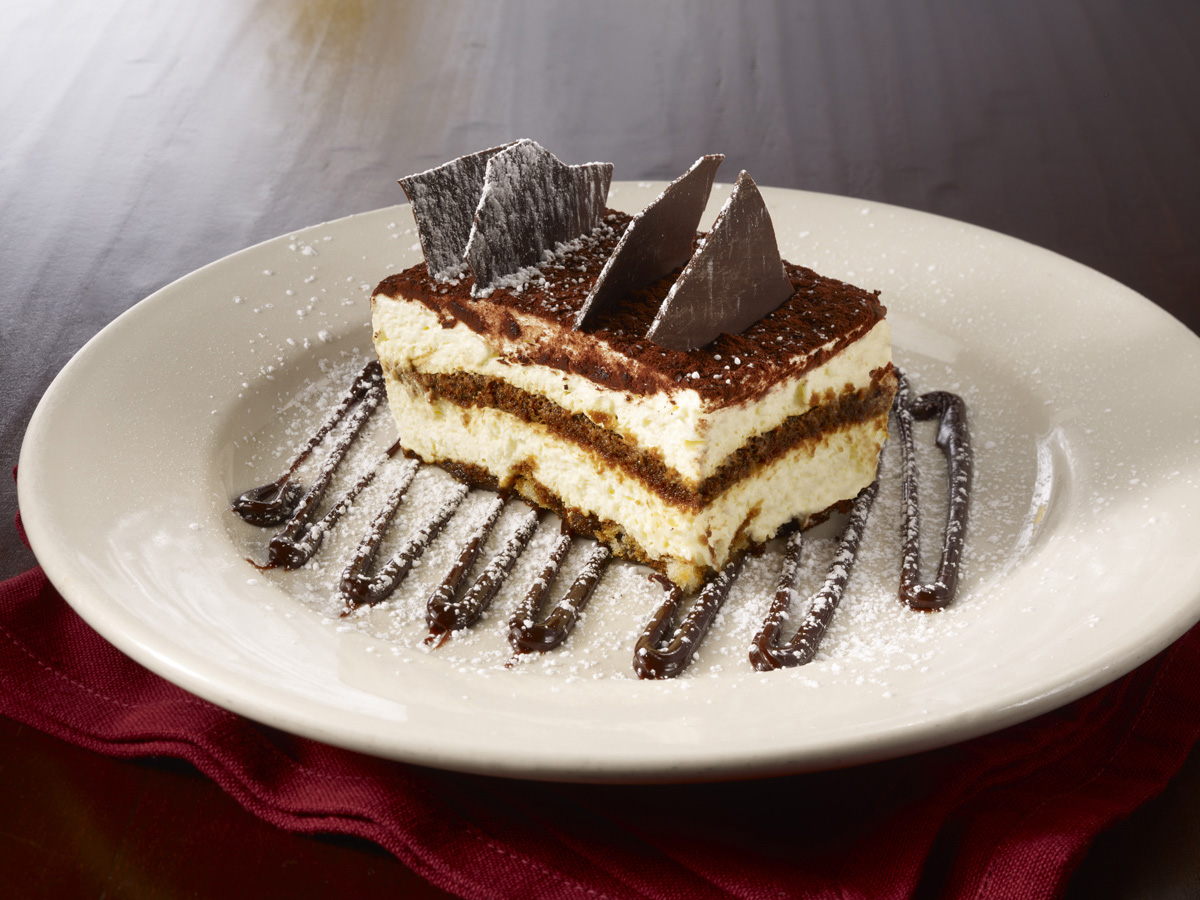 Tiramisu. Double the portion on any order for chicken entrees without doubling the price!