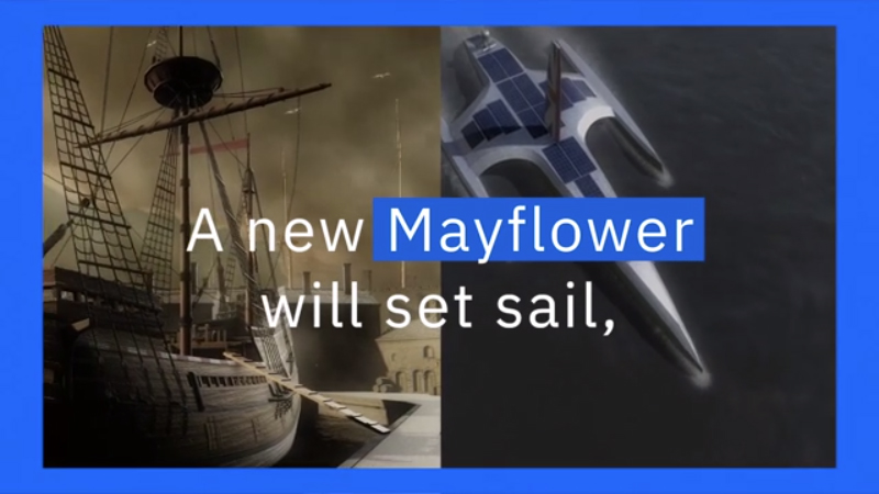 90 second explainer video of the Mayflower Autonomous Ship Project and the role IBM technology will play.  Credits: University of Birmingham's Human Interface Technologies Team (HIT); IBM