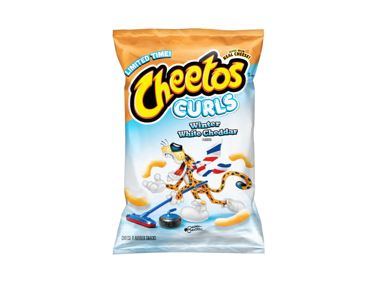 New limited-edition Cheetos Winter White Cheddar Curls.