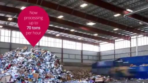 Video featuring the Largest Smartest Residential Recycling Center in North America