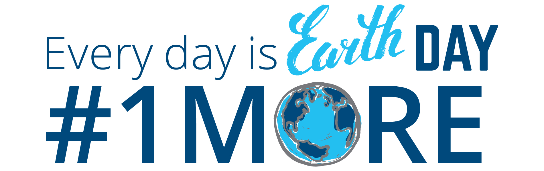 Banner image for earth day #1MORE campaign