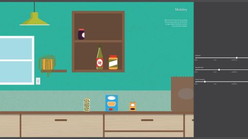 Image of kitchen in mobility application