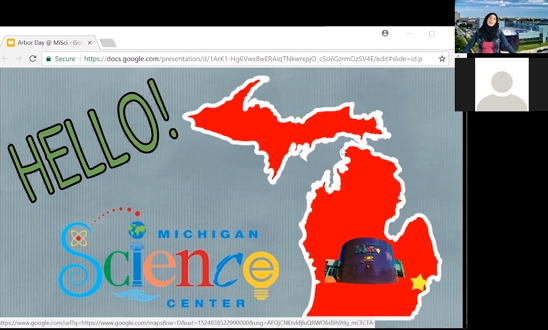 The Michigan Science Center's ECHO program uses video conferencing to connect classrooms from any location with a museum educator who conducts interactive lessons in real time.