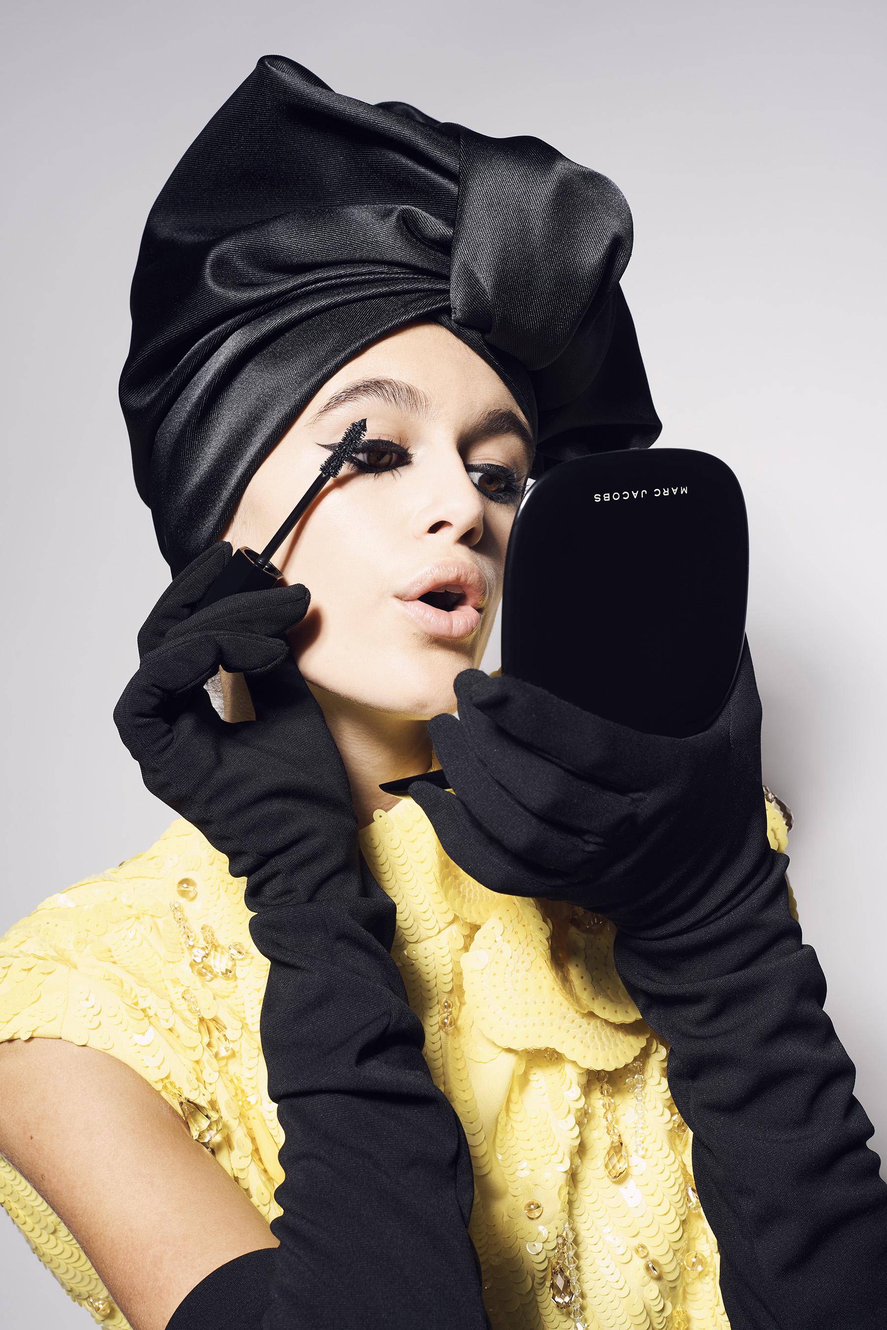 kaia gerber fronts new marc jacobs beauty campaign for velvet noir major volume mascara