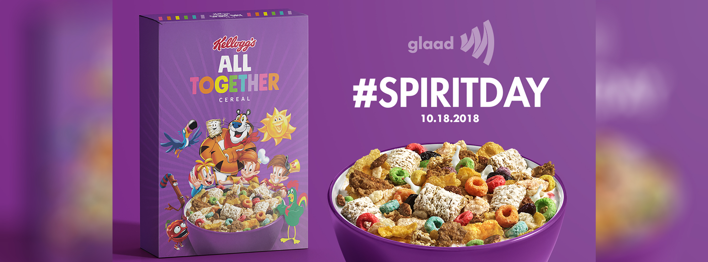 Kellogg Partners with GLAAD For Spirit Day...