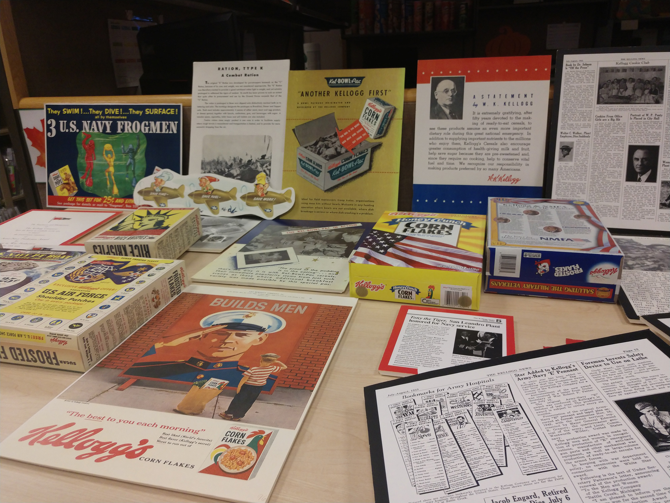 Pieces from Kellogg's archives