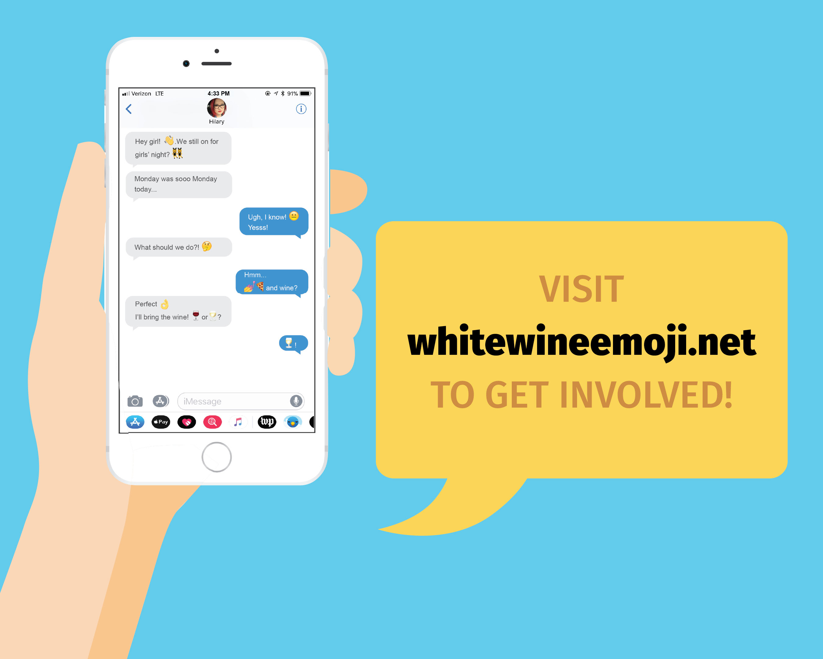 Fetzer also brings the campaign to life on its website, which sheds light on the international effort for the #WhiteWineEmoji and invites fans to express their support by visiting whitewineemoji.net to get involved.