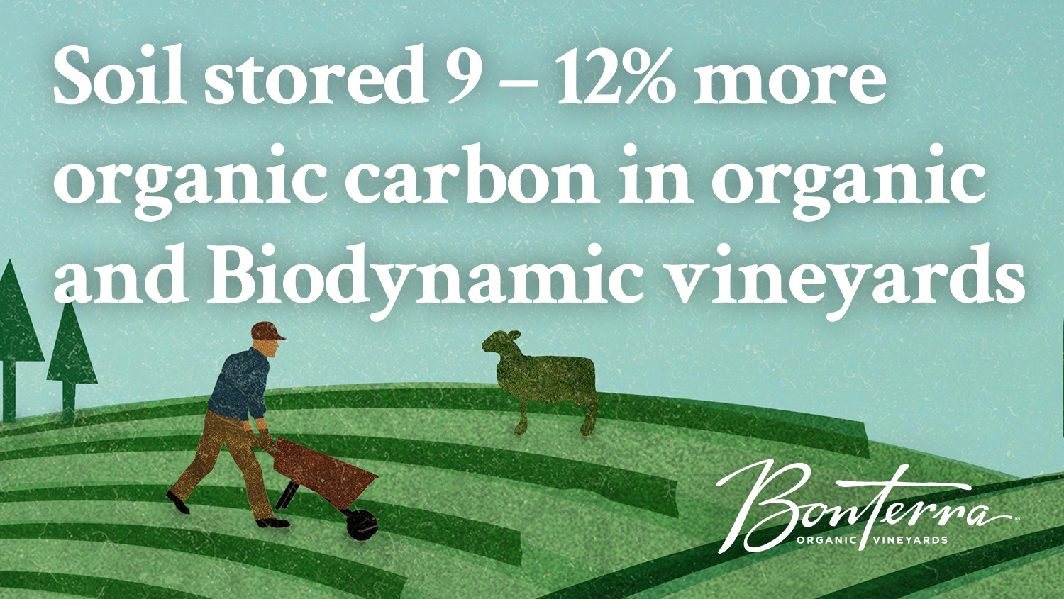Data from Bonterra's study indicate that organic and Biodynamic vineyards store more soil organic carbon (SOC), a key element in keeping earth's carbon cycle in balance.