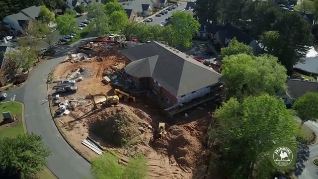 A bird's eye view of Primrose School of East Cobb at Paper Mill showcases a preview of the construction and site development behind each new Primrose school. The school is set to open Summer 2018.