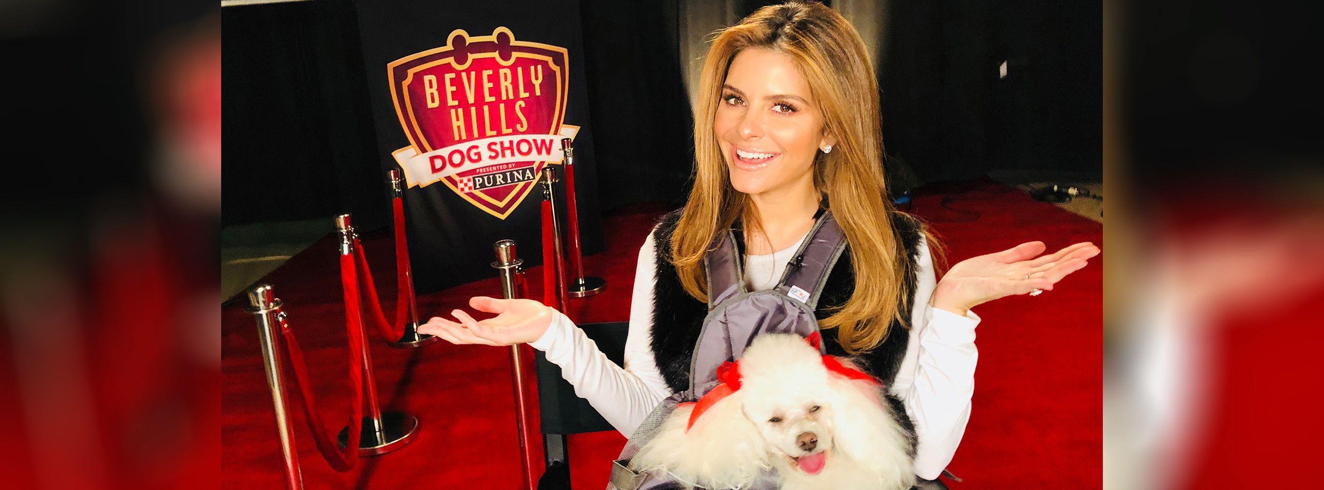maria menounos at the BHDS with her dog