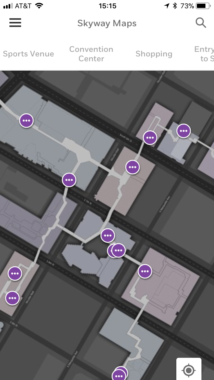 The Minneapolis Skyway System is using the Honeywell Vector Occupant App to help visitors easily navigate the complex interlinked network of enclosed pedestrian walkways spanning 80 city blocks.