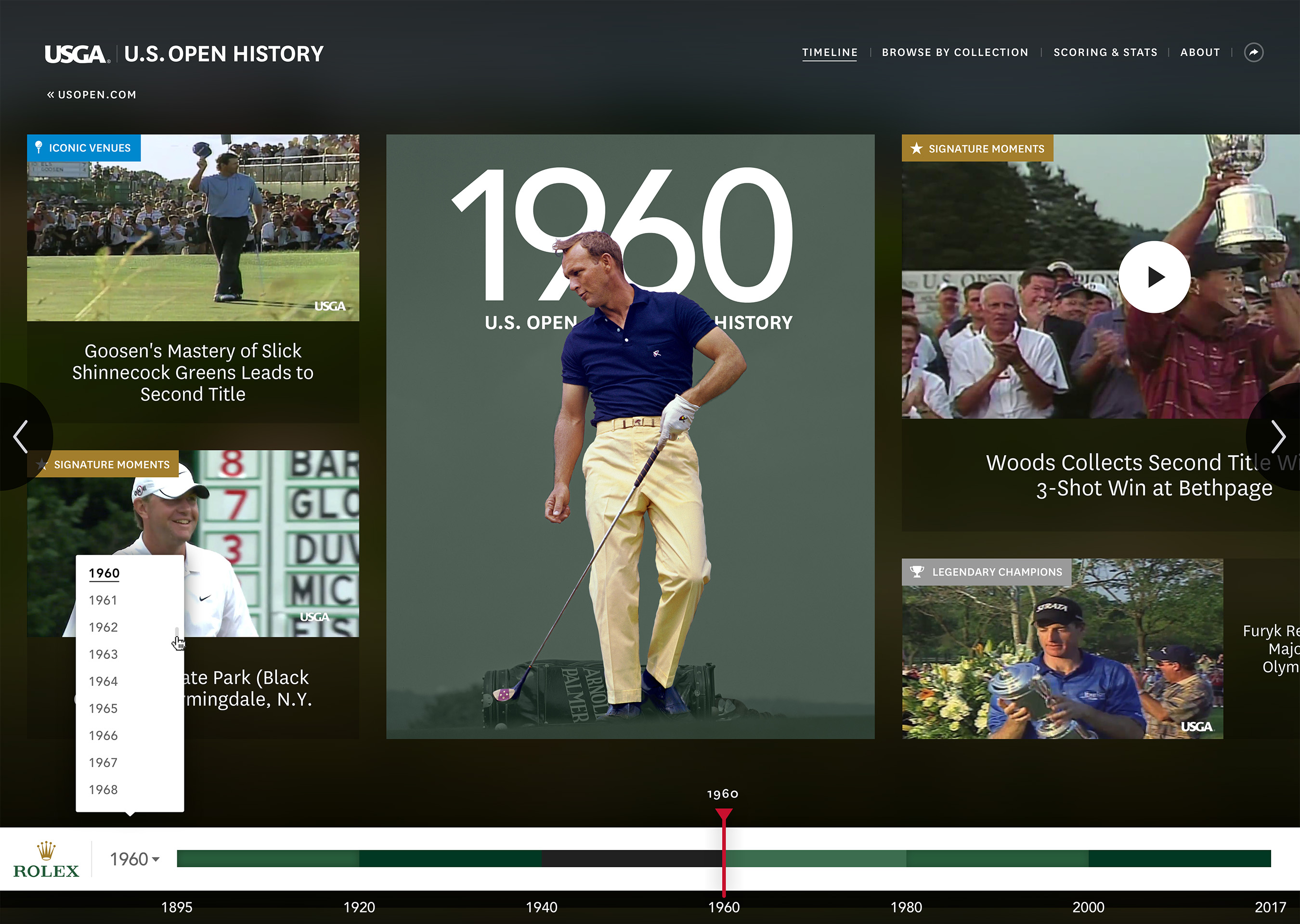 U.S. Open History Experience in partnership with Rolex