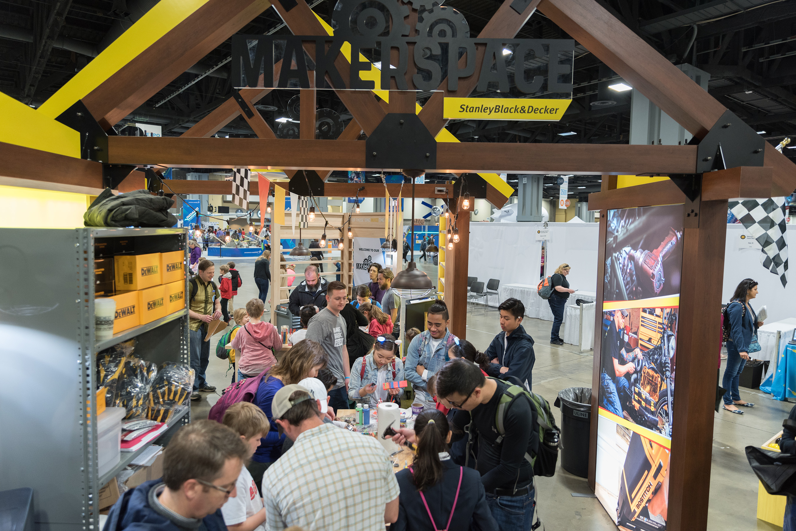 Stanley Black & Decker's traveling makerspace.